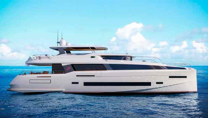 Топовая турецкая яхта Sirena 85 пошла в производство | фото