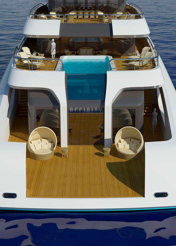 6-метровый бассейн на яхте Project Affinity от The A Group