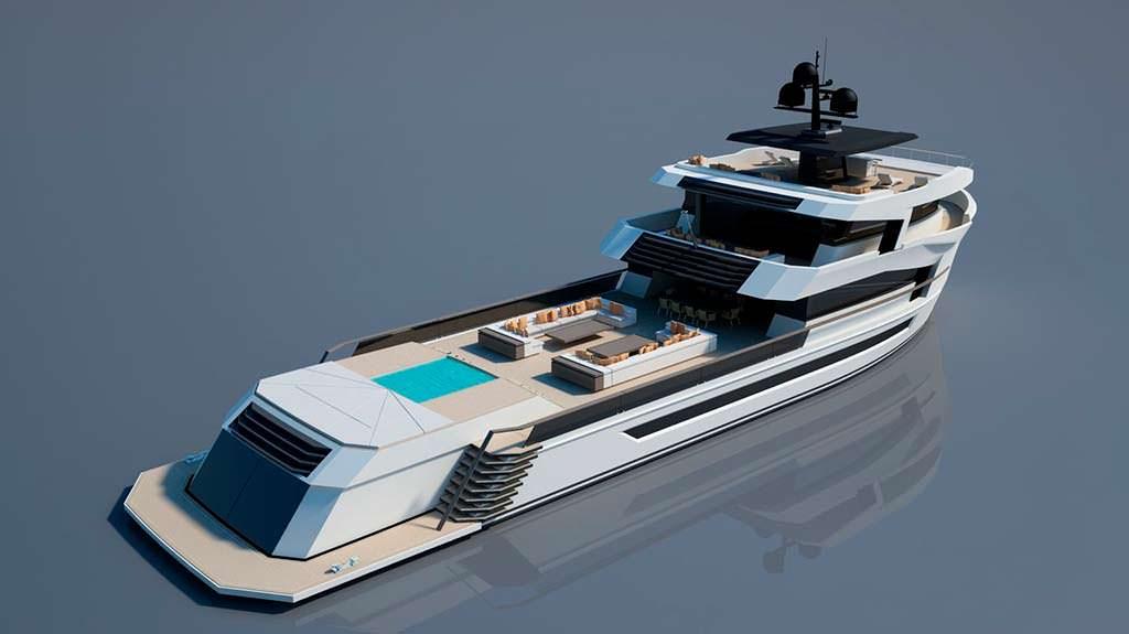 40-метровая яхта с бассейном Naucrates 130