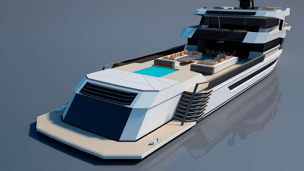 Итальянская яхта Naucrates 130. Длина 40 метров