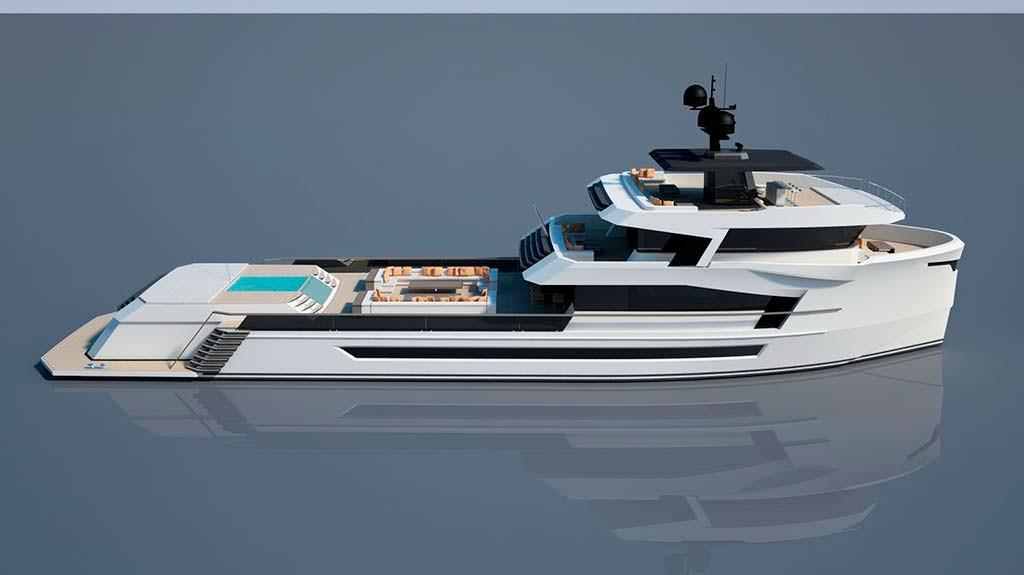Яхта Naucrates 130. Проект верфи Cantieri Navali Chioggia