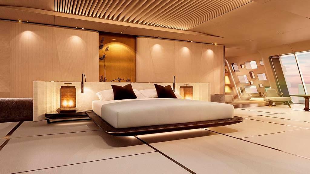 Интерьер каюты яхты Tuhura. Дизайн Achille Salvagni