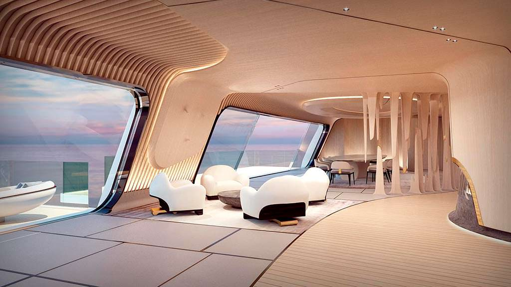 Фото внутри яхты Tuhura от Achille Salvagni