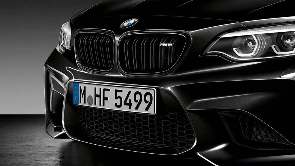 Чёрная радиаторная решётка BMW M2 Coupe Edition Black Shadow