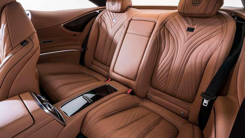 Фото внутри Mercedes-AMG S63 Coupe. Тюнинг от Brabus