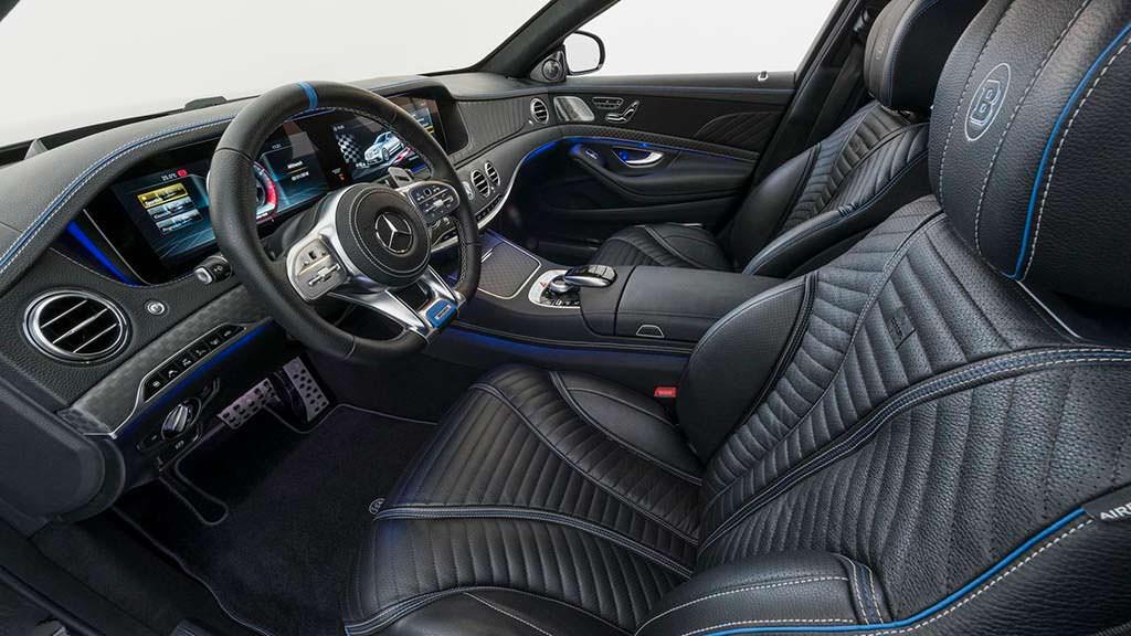 Фото внутри Mercedes-AMG S63. Тюнинг Brabus