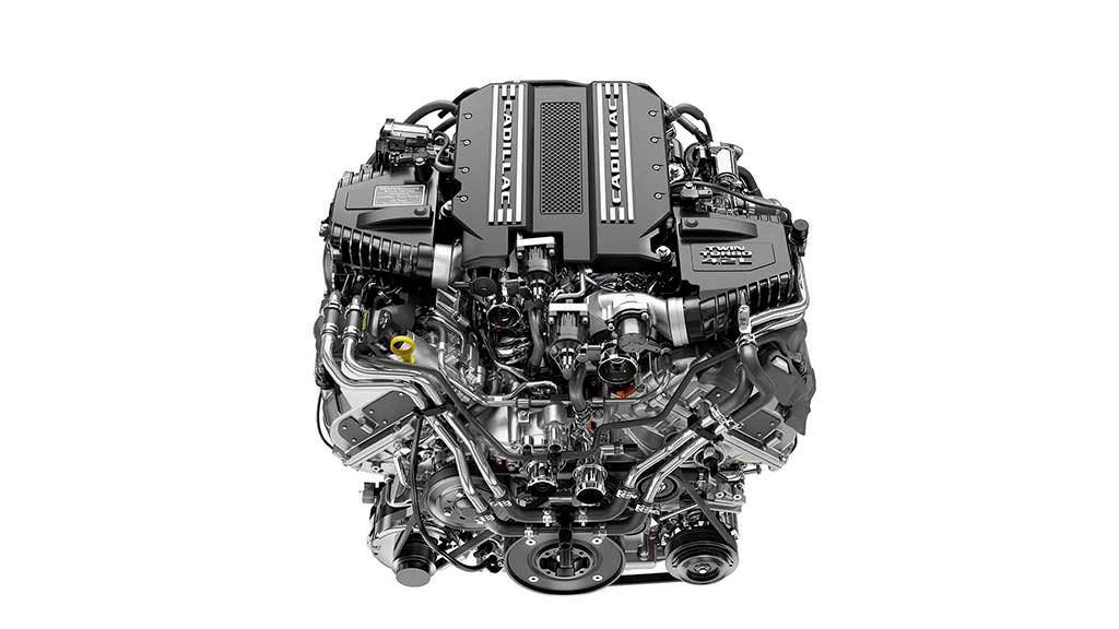 Двигатель 4,2-литра V8 с двумя турбинами Cadillac