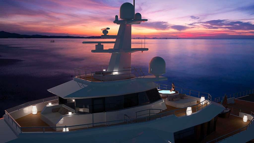 Надстройка исследовательской яхты Damen SeaXplorer 77