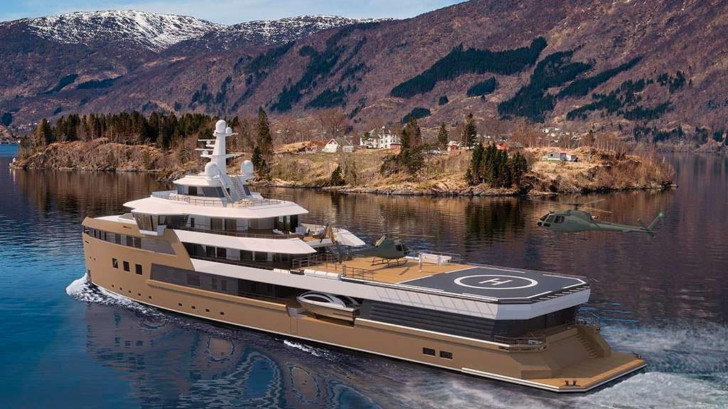 Яхта с двумя вертолетами Damen SeaXplorer 77