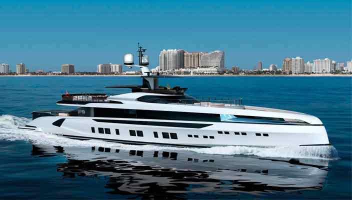 GTT 165 - новая яхта длиной 50 метров от верфи Dynamiq | фото