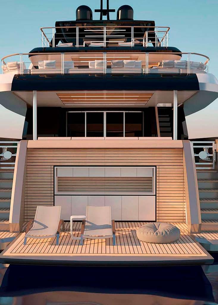 Пляжный клуб яхты Filippetti E32