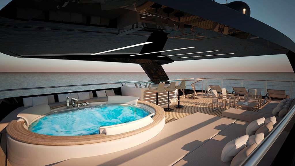 Спа-джакузи на яхте Filippetti Yacht E32