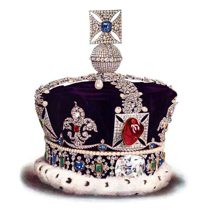 Корона Великобритании. Вес 1,06 кг. Цена более $39 млн