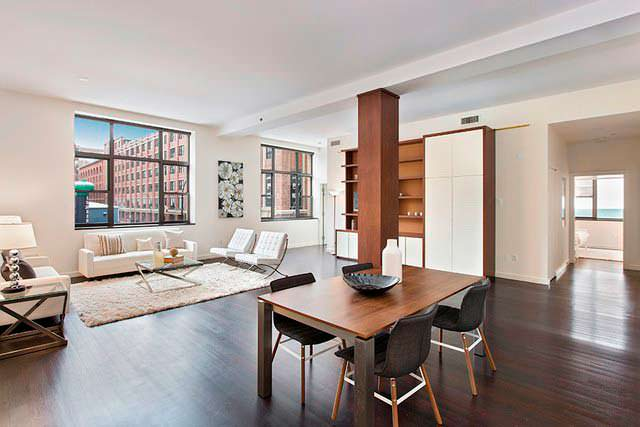 Квартира в стиле лофт в Нью-Йорке