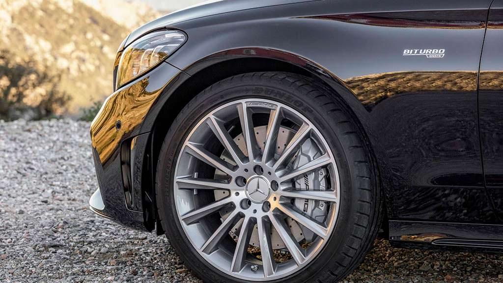 Колёсные диски Mercedes-AMG C43 тестировали в аэродинамической трубе