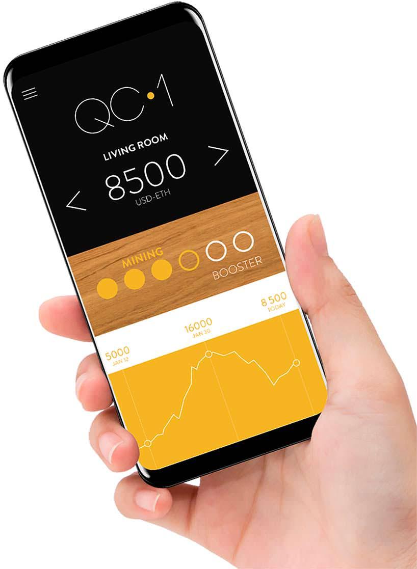 Приложение на смартфон для настроек Qarnot QC1