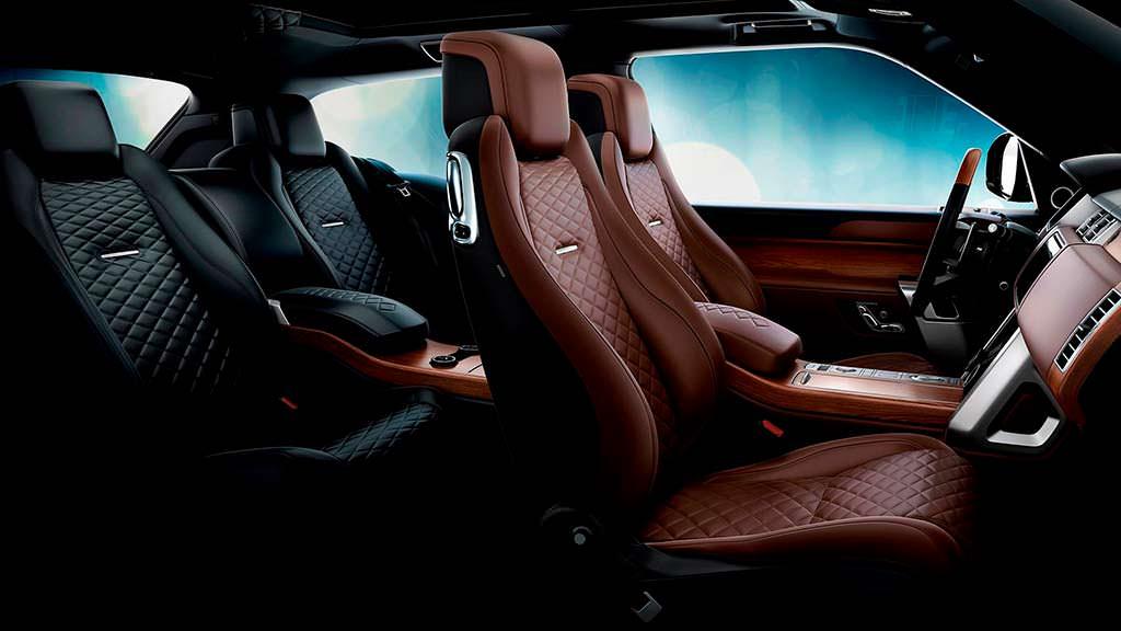 Цветовые схемы интерьера Range Rover SV Coupe