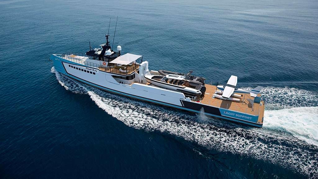 55,5-метровое судно поддержки для суперъяхт от Damen Yacht