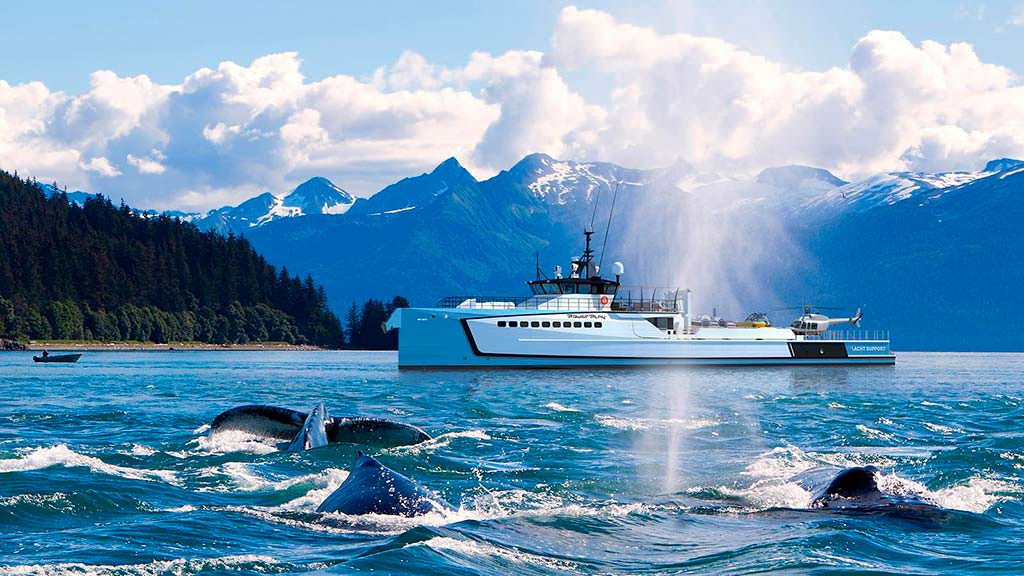 Судно сопровождения яхты от Damen Yacht