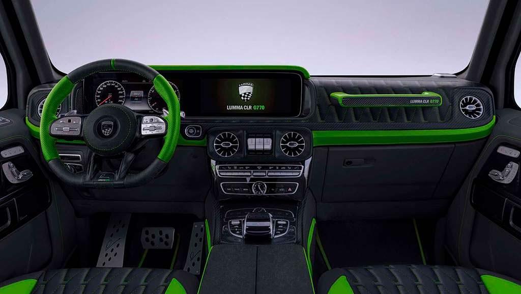 Контрастный салон Mercedes-AMG G63. Тюнинг от Lumma Design