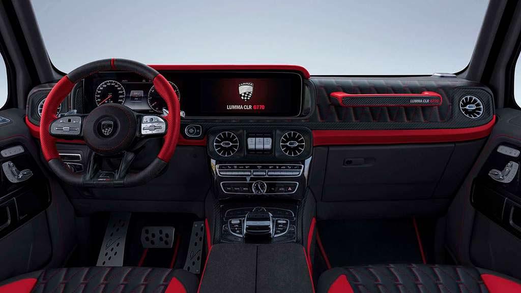 Фото внутри Mercedes-AMG G63. Тюнинг от Lumma Design