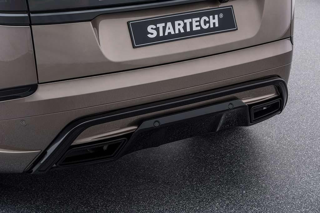 Диффузор с выхлопными трубами для Range Rover Velar от Startech