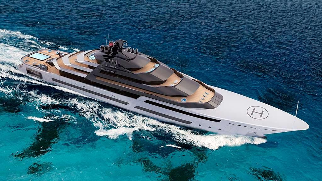 120-метровая яхта Rorqual. Концепт MUB Design