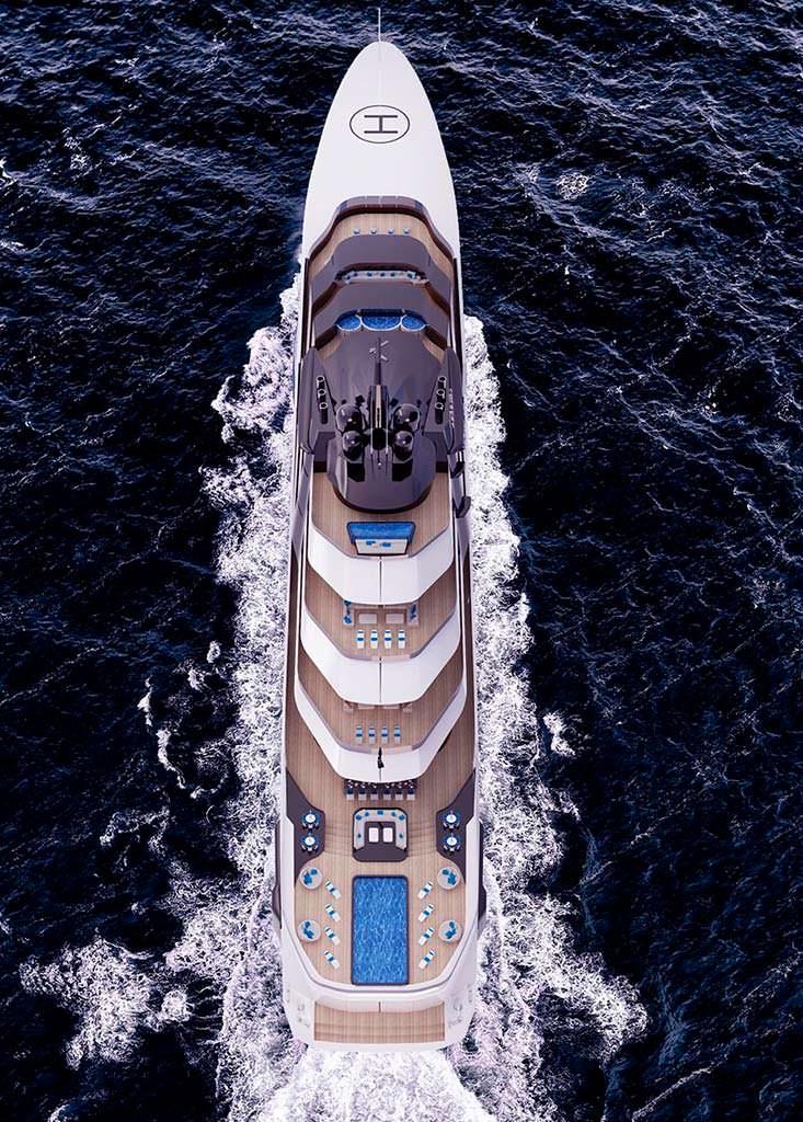 Яхта длиной 120 метров Rorqual. Концепт MUB Design