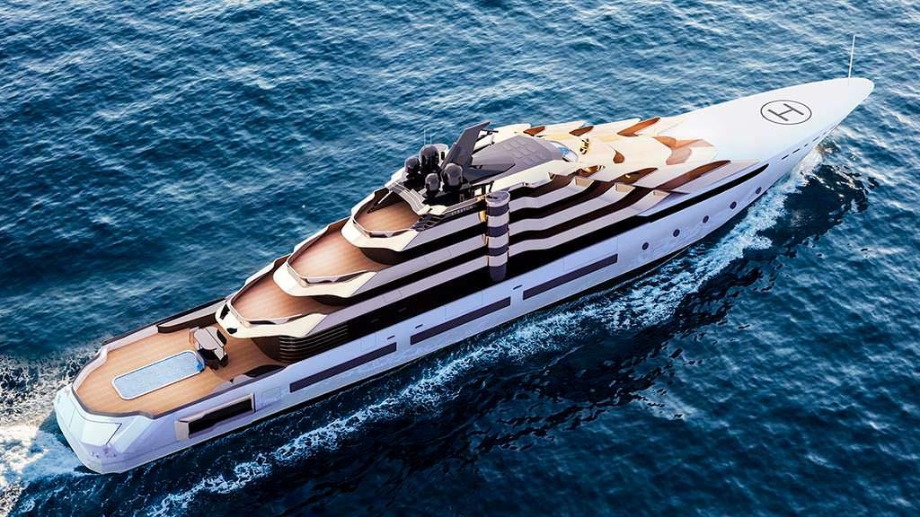 120-метровая яхта Stratum. Концепт MUB Design