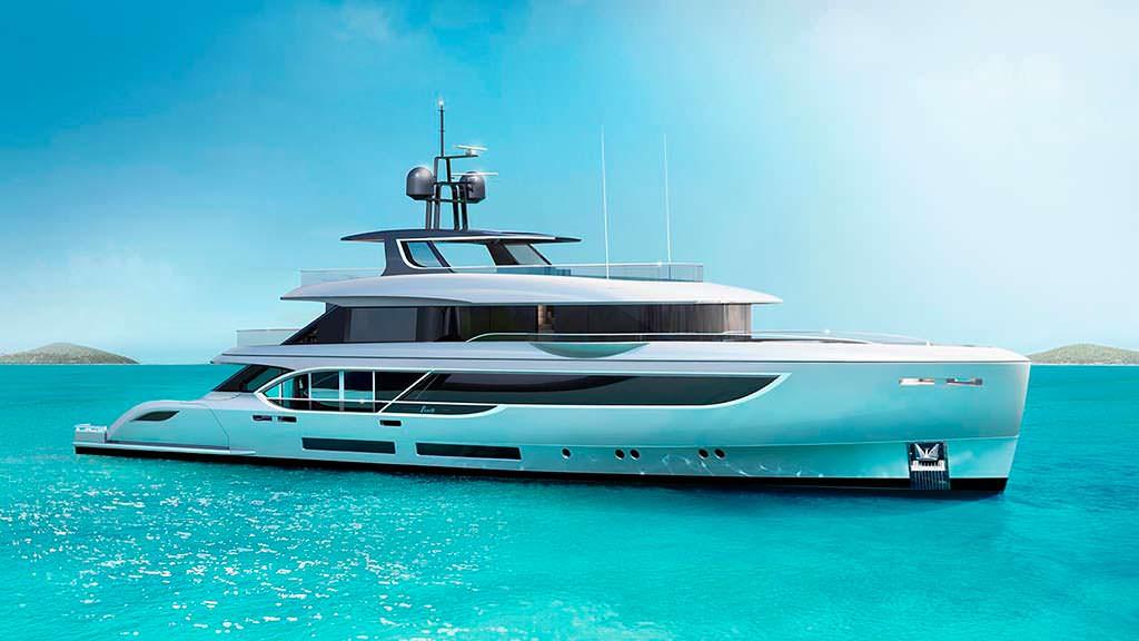 Итальянская яхта Benetti Oasis 135. Длина 41 метр
