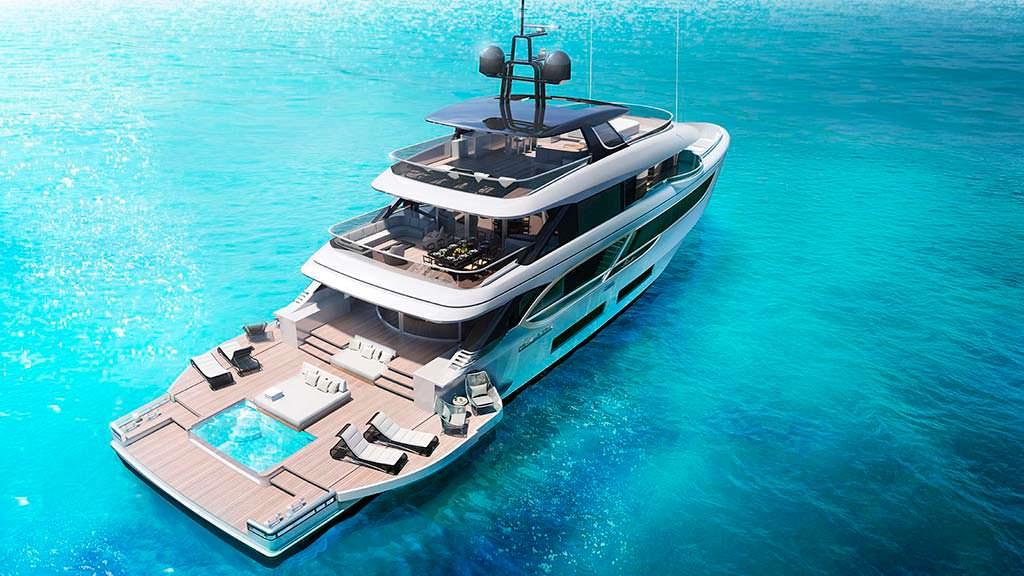 Яхта Benetti Oasis 135 с расширяемым пляжным клубом