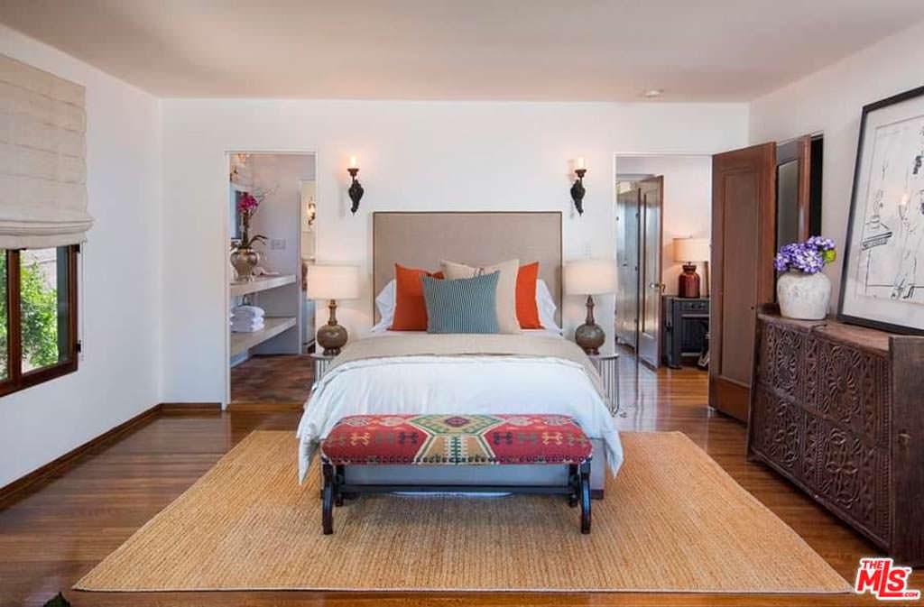 Дизайн спальни в доме актрисы Эллен Помпео