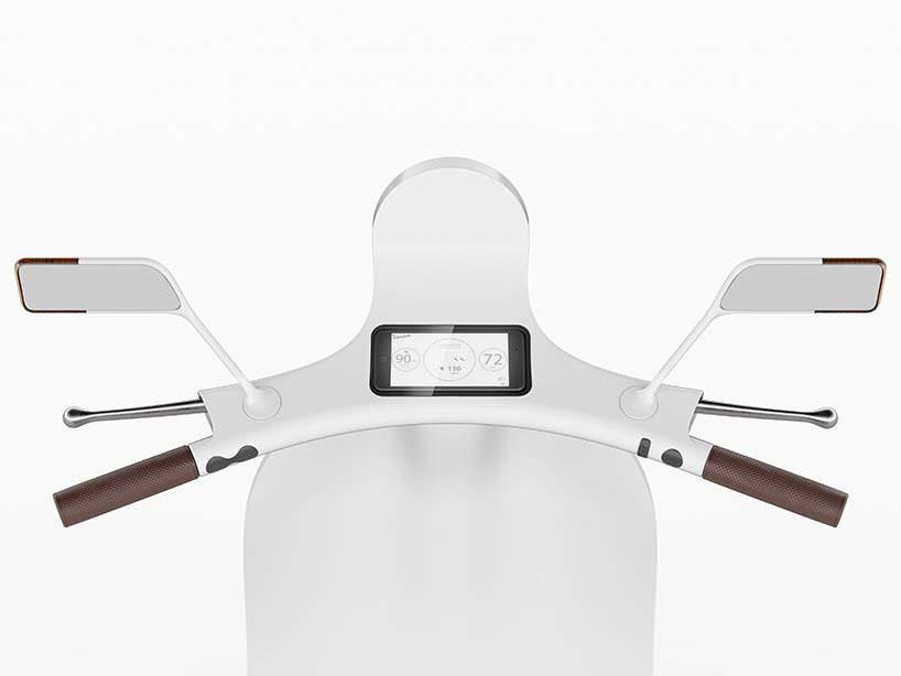 Электро-мотороллер Vespampère: смартфон вместо спидометра