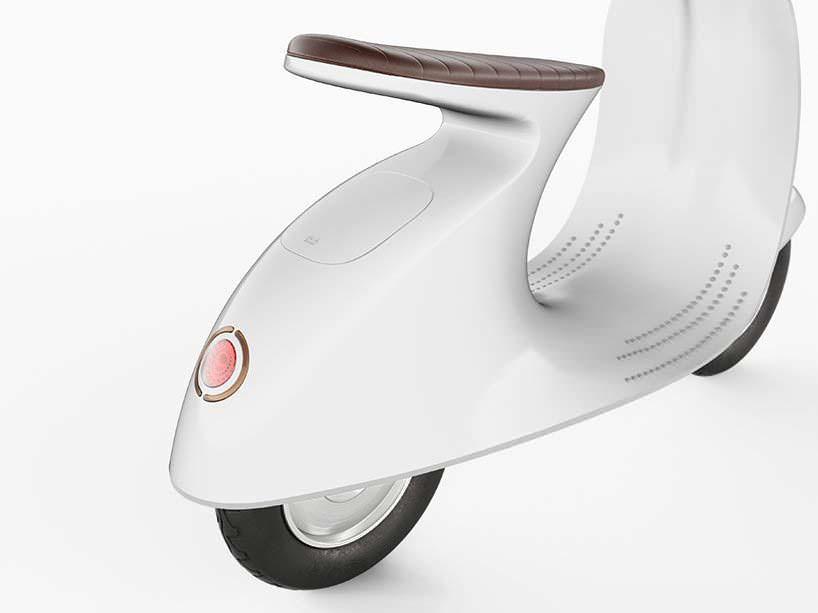 Электро-мотороллер Vespampère с консольным сиденьем