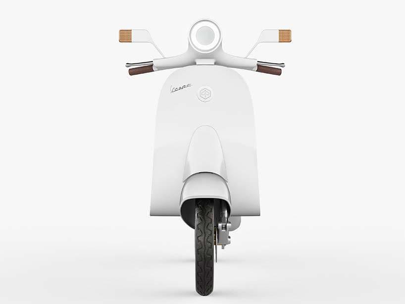Электро-мотороллер Vespampère переосмысливает классический дизайн