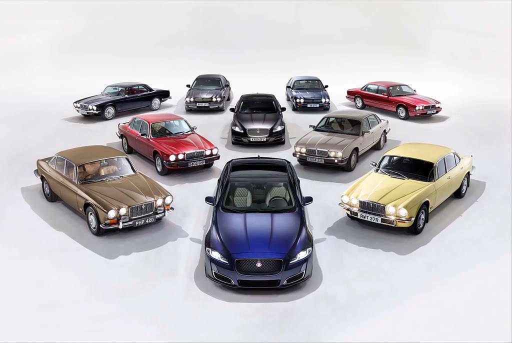 Все поколения Jaguar XJ с 1968 по 2018 годы
