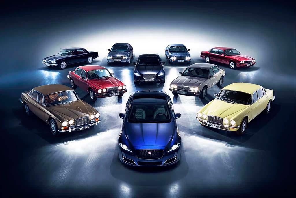 Эволюция седана Jaguar XJ с 1968 по 2018 годы
