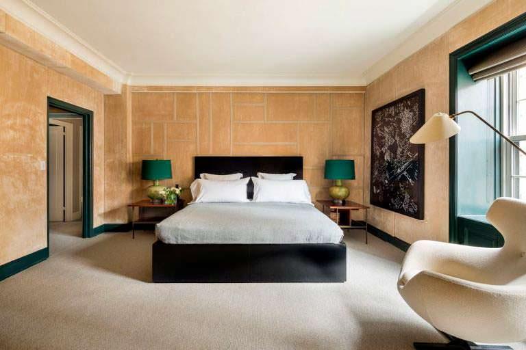 Дизайн спальни в квартире на Манхэттене