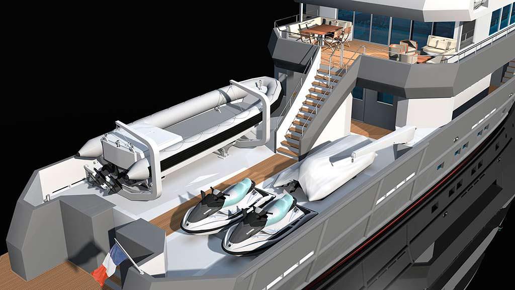 Яхта с катером и гидромотоциклами Ocea 125XP