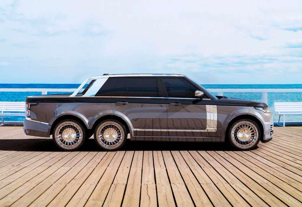 Шестиколесный Range Rover 6×6 Pickup от T.Fotiadis Design