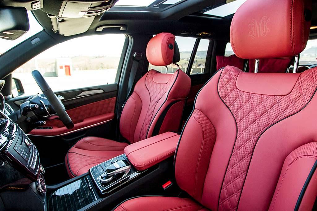 Красная кожа наппа в салоне Mercedes-AMG GLS 63 от Hofele