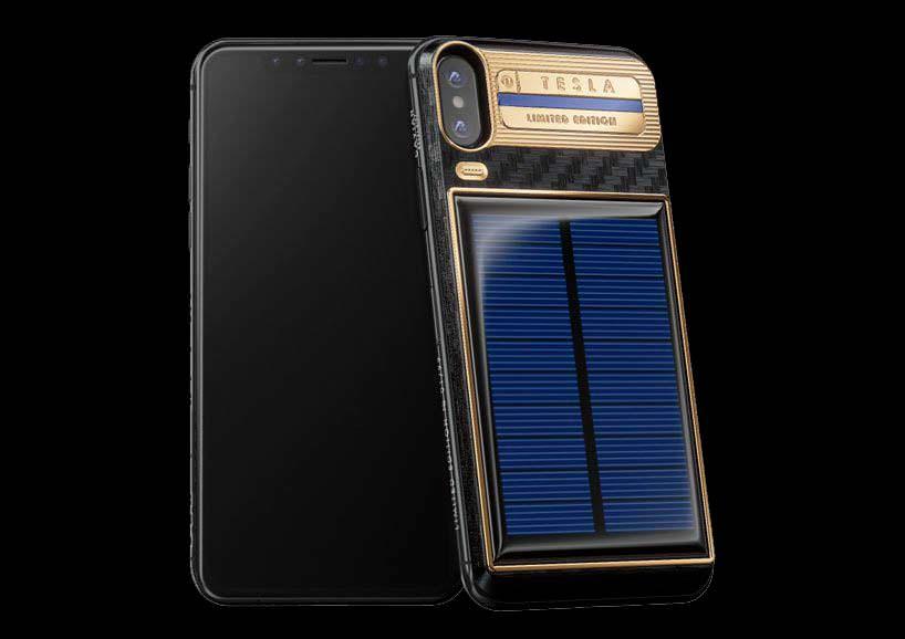 Apple iPhone X Tesla с солнечной панелью