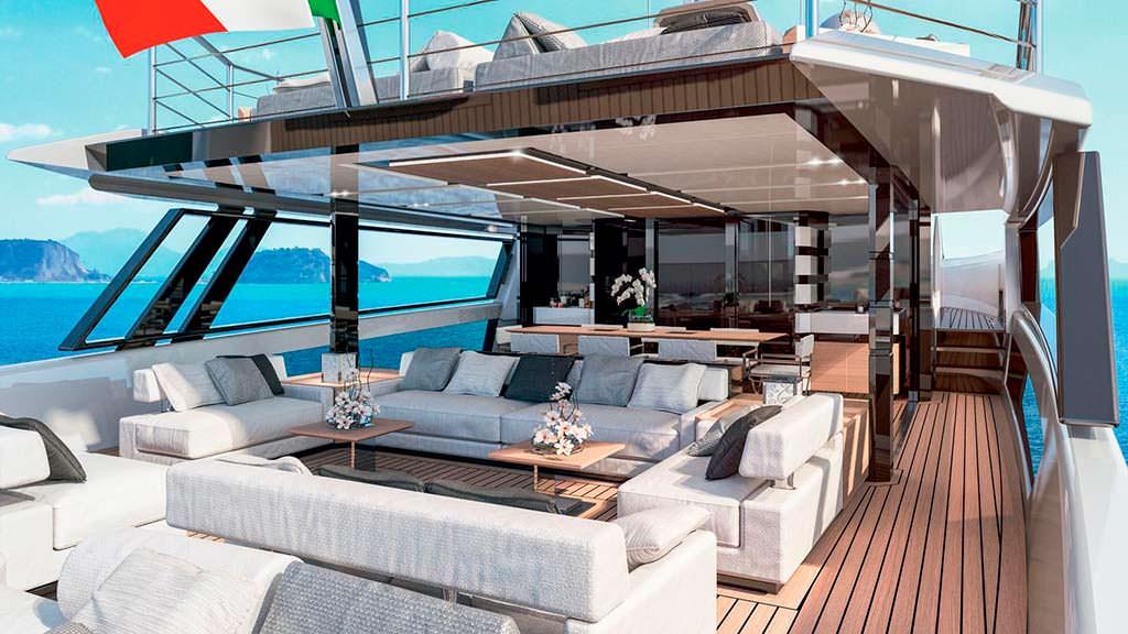 Скай-лаундж яхты Arcadia Sherpa XL
