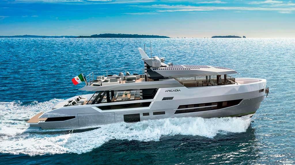 Итальянская яхта Arcadia Sherpa XL. Скорость 22 узла