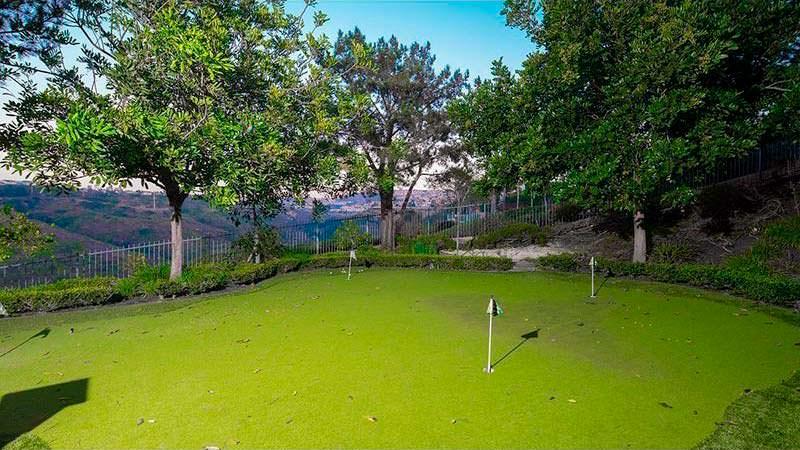 Мини поле для гольфа у дома