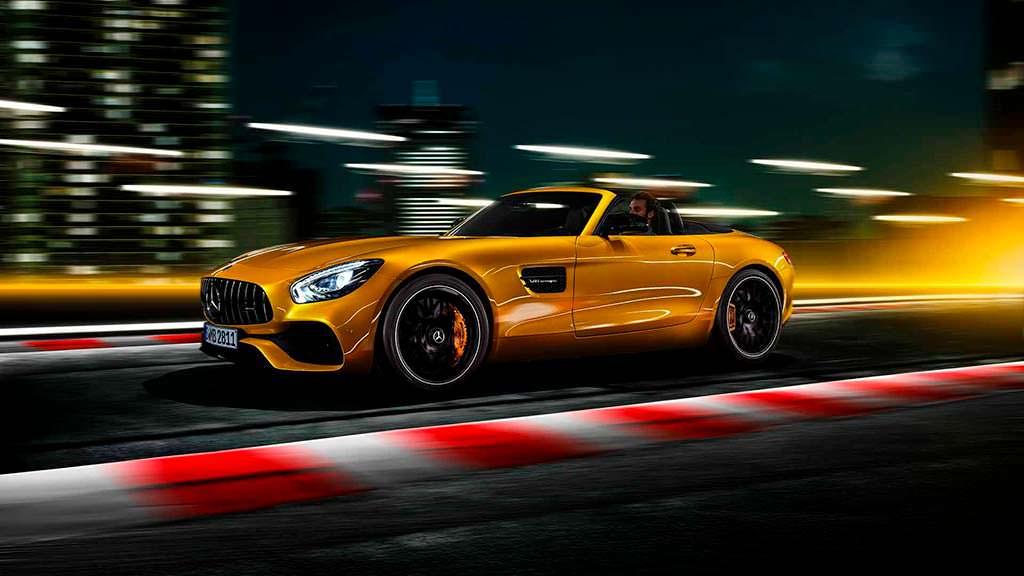 Mercedes-AMG GT S Roadster. Максимальная скорость 309 км/ч