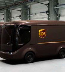 UPS переходит на электро-грузовики Arrival