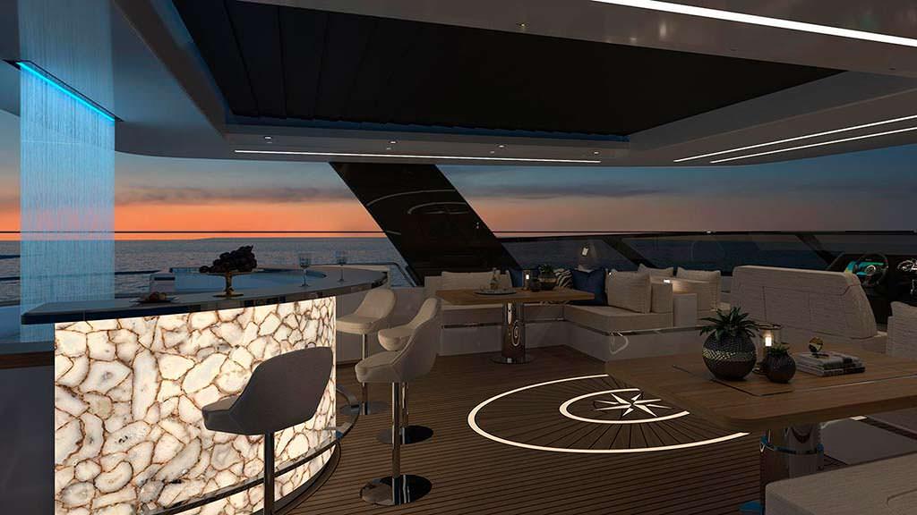 Дизайн интерьера яхты Sunreef 80 Power