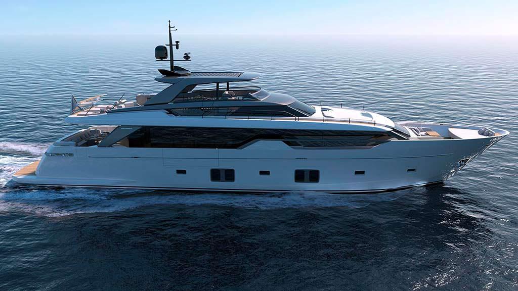 Яхта Sanlorenzo SL102. Длина 31,1-метра