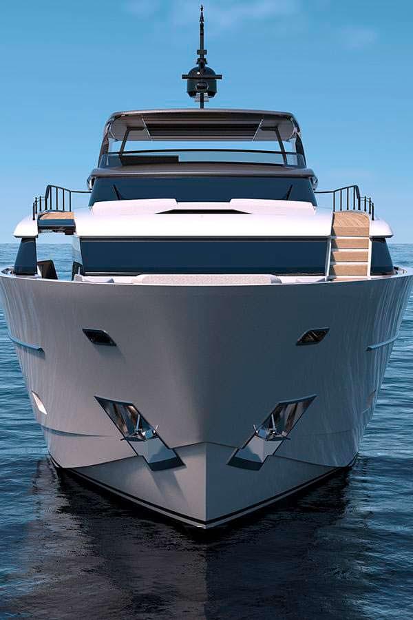 Яхта Sanlorenzo SL102. Максимальная скорость 25 - 26 узлов
